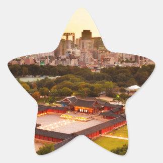 Seoul South Korea Skyline Star Sticker