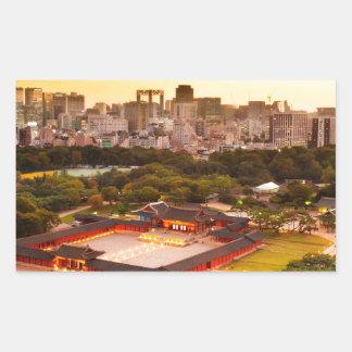 Seoul South Korea Skyline Sticker