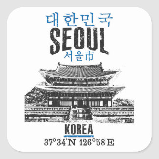 Seoul Square Sticker