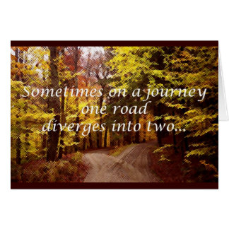 separate roads divorce greeting card