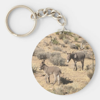 Separated by borders basic round button keychain