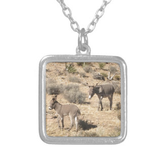 Separated by borders silver plated necklace