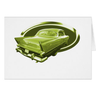 Sepia 1956 Plymouth Card