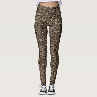 Sepia Abstract Leggings