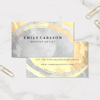 Sepia and Gray Watercolor Business Card