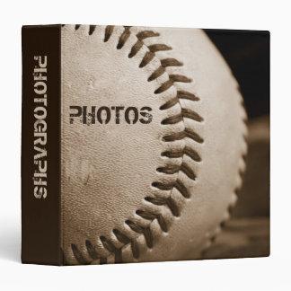 "Sepia Baseball 1.5"" Photo Album Binders"