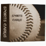 "Sepia Baseball 2"" Sports Cards Album Vinyl Binder"