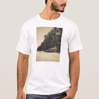 Sepia beach t shirt