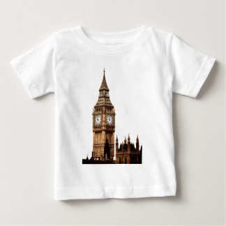 Sepia Big Ben Tower Baby T-Shirt