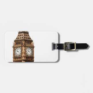 Sepia Big Ben Tower Bag Tag