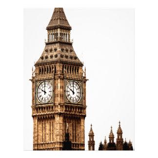 Sepia Big Ben Tower Letterhead Template