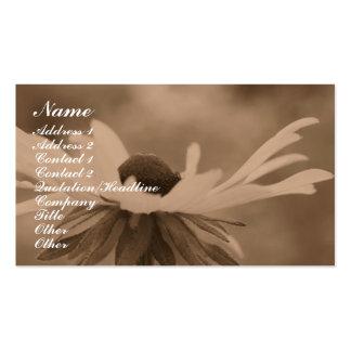 Sepia Black Eyed Susan Flower Business Card