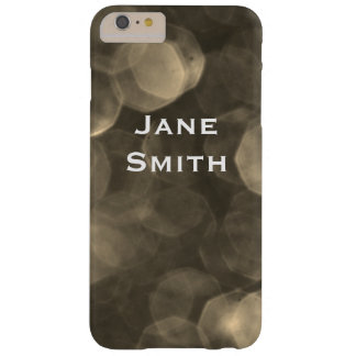 Sepia Bokeh Barely There iPhone 6 Plus Case