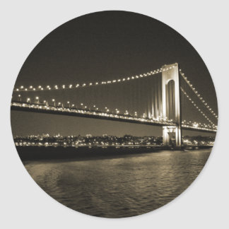 Sepia Bridge sticker