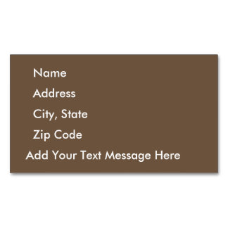 Sepia Business Card Magnet