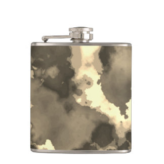 Sepia Camouflage Vinyl Wrapped Flask