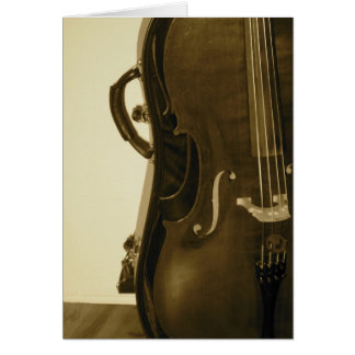 Sepia Cello greeting card