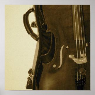 Sepia Cello poster print