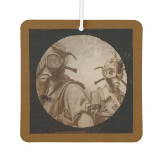 Sepia Colored Gas Mask Girls Car Air Freshener