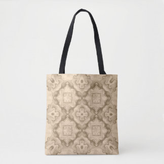 Sepia Colored Kaleidoscope Pattern #1 Tote Bag
