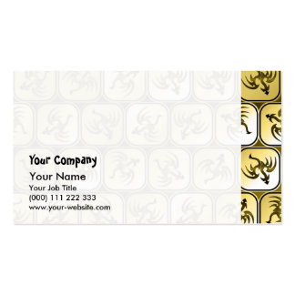 Sepia dragons pattern Double-Sided standard business cards (Pack of 100)