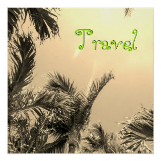 Sepia Exotic Travel Perfect Poster
