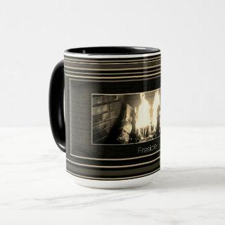 Sepia fireside mug