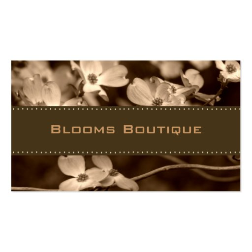 Sepia Floral Business Cards