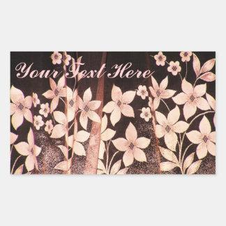 Sepia Flowers Sticker
