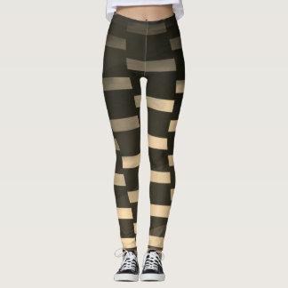 Sepia Geometric - Leggings
