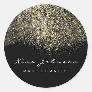 Sepia Gold Black White Makeup Artist Beauty Classic Round Sticker