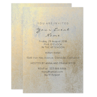 Sepia Gold  Gray Silver Birthday Party Painting Card