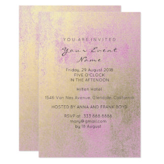 Sepia Gold Pink Powder Birthday Party Painting Card