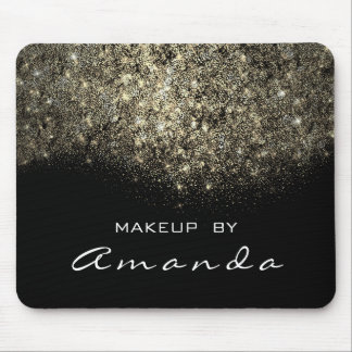 Sepia Gold Sparkly Glitter Branding Beauty Mouse Pad