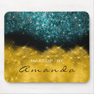 Sepia Gold Sparkly Glitter Teal Ocean Beauty Mouse Pad