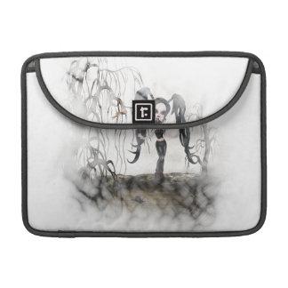 Sepia Goth Girl Vignette Sleeve For MacBook Pro