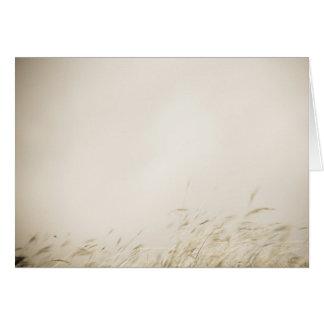 Sepia Grass Card