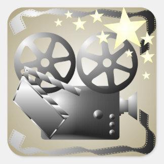 Sepia Gray Movie Cinema Theatre Sticker