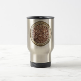 Sepia Green Man Travel Mug