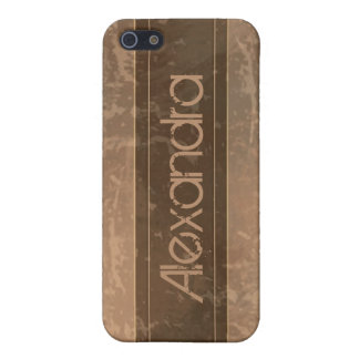 Sepia Grunge Marble Distressed iPhone 5 Case