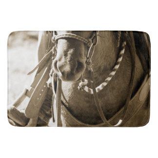 Sepia Horse Nose  Photographic Bath/Shower Mat