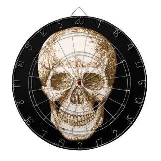 Sepia Human skull face Dartboard