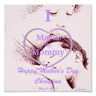 Sepia I Love My Mommy Poster-Customize