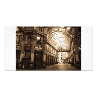 Sepia image Of Leadenhall Market London Photo Greeting Card