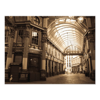 Sepia image Of Leadenhall Market London Photo Print