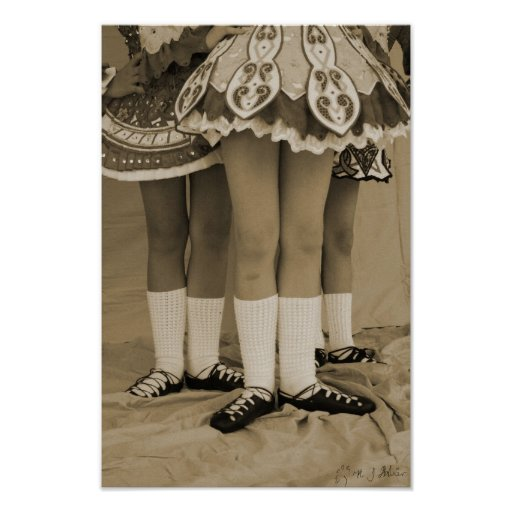 Sepia Irish Dance Poster