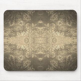 Sepia kaleidoscope mouse mat mouse pad