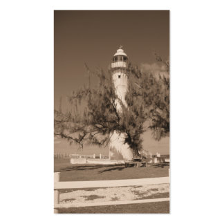 Sepia Lighthouse Cards Business Card