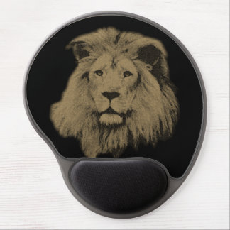 Sepia Lion Gel Mouse Pad