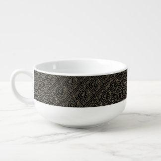 Sepia Maze Soup Mug